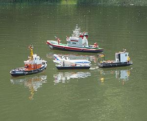 Schiffsmodell auf unseren Vereinsgewässer in Rebgeshain