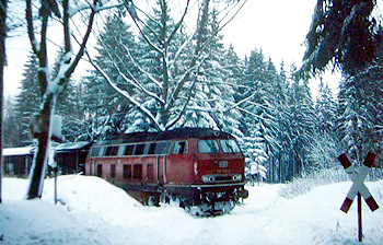 Vogelsbergbahn im Winter